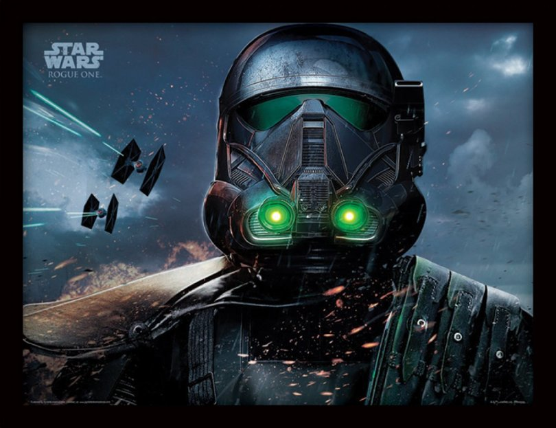 NEW Rogue One Official Posters Pyramid Int HD - A Star Wars Story _ Death Trooper Rain