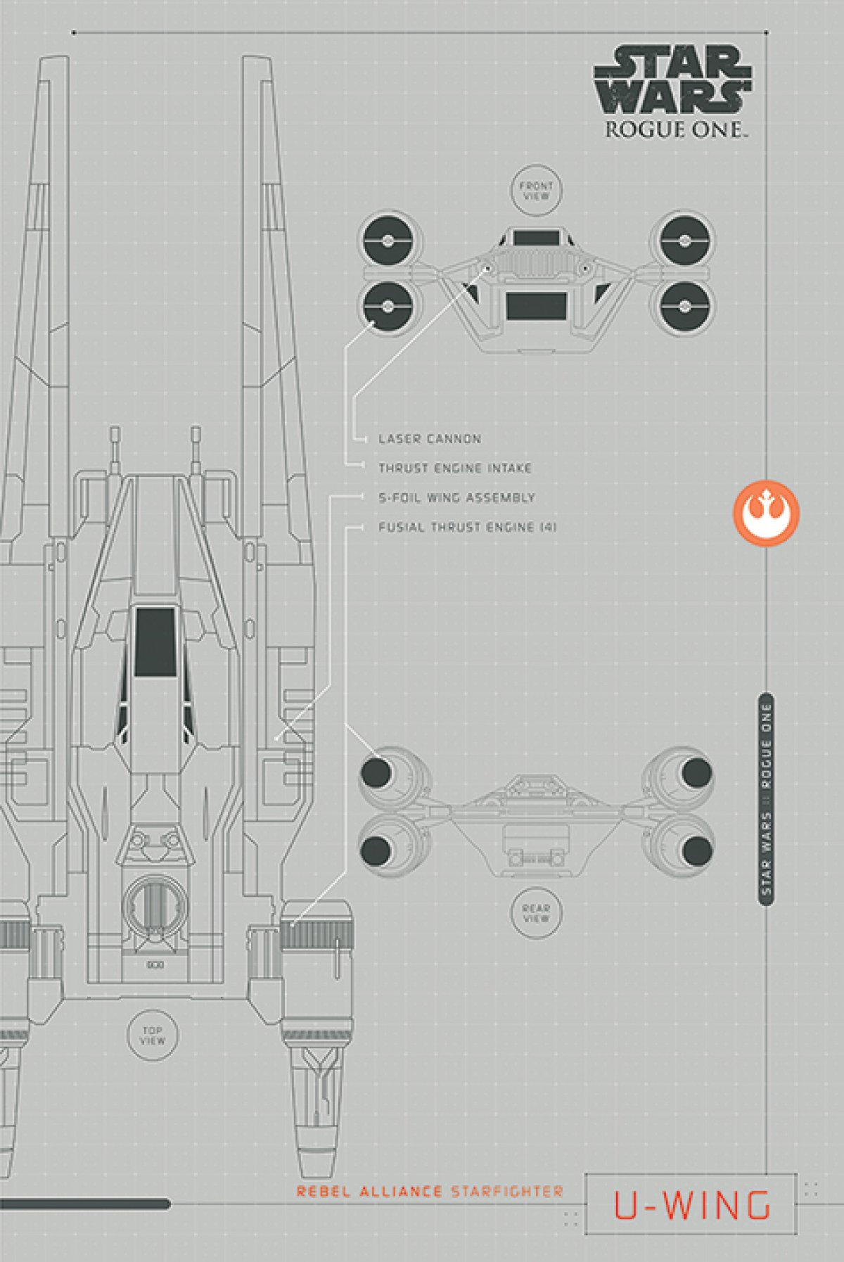 New Rogue One Official Posters Pyramid Int Hd A Star Wars Story U Wing Diagram September 8 2016