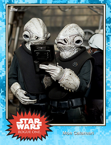Rogue One Topps Trading Cards Mon Calimari