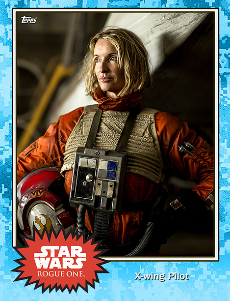 Rogue One Topps Trading Cards Xwing pilot