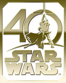 Star Wars 40th Anniversary Logo Gold HD Hi-Res
