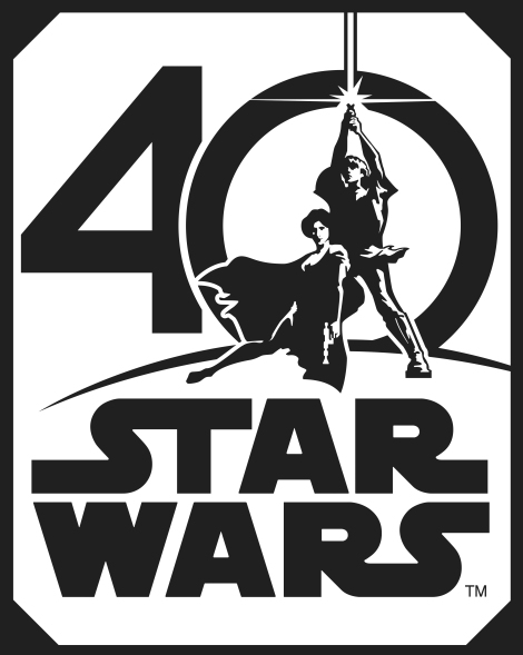 Star Wars 40th Anniversary Logo HD Hi-Res