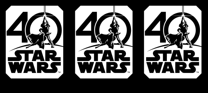 Star Wars 40th Anniversary Logo Header HD Hi-Res