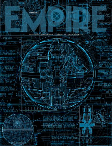 Empire Magazine-Rogue One Exclusive Subscriber Death Star Cover