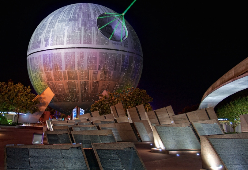 Epcot Death Star Spaceship Earth Rogue One A Star Wars Story