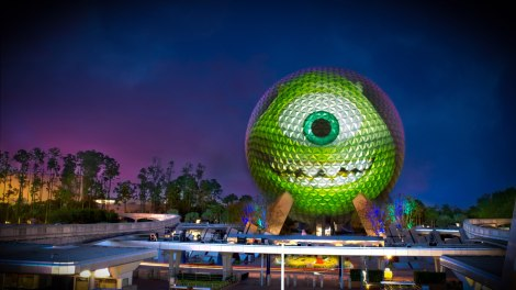 Epcot Spaceship Earth Mike Wazowski