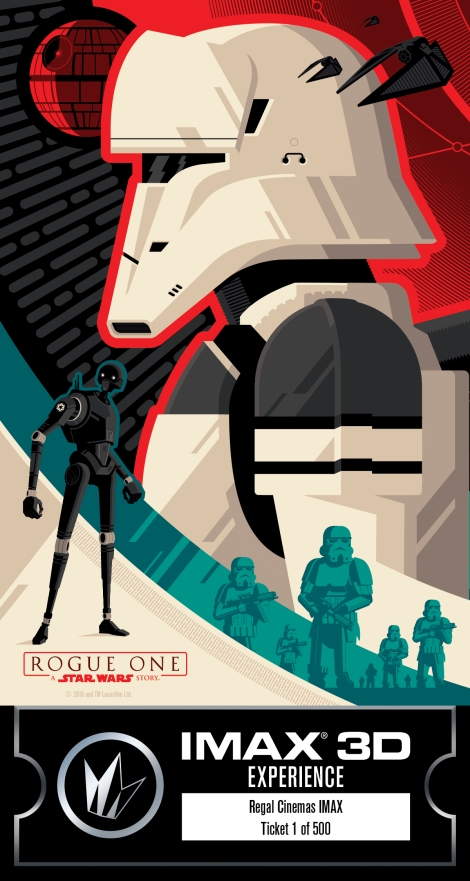 IMAX Regal Rogue One Collectors Ticket Poster Star Wars_Left HD Hi Res