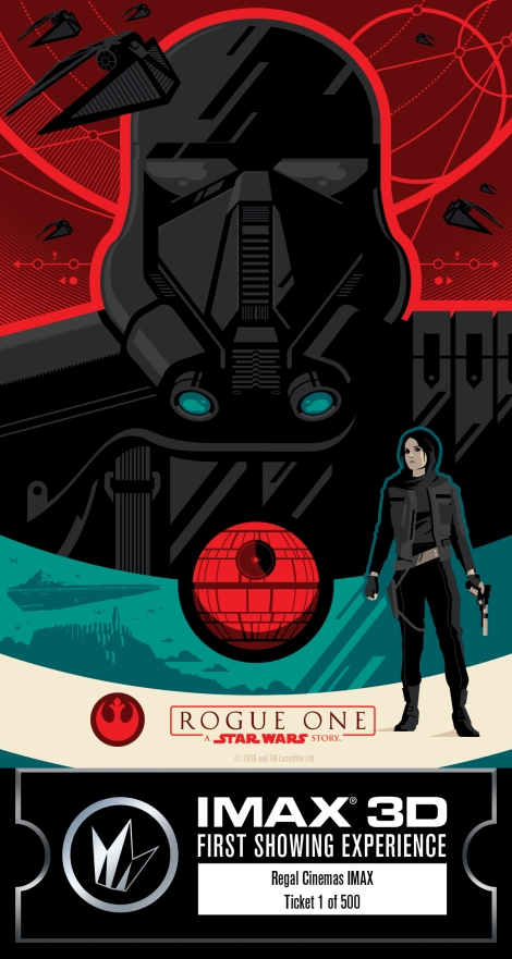 IMAX Regal Rogue One Collectors Ticket Poster Star Wars_Middle HD Hi Res