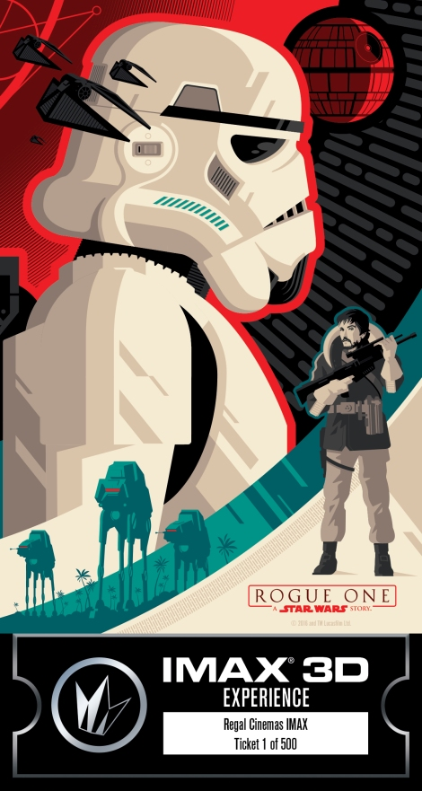IMAX Regal Rogue One Collectors Ticket Poster Star Wars_Right
