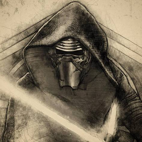 Star Wars Celebration 2017 Art Kylo Ren by Paul Shipper
