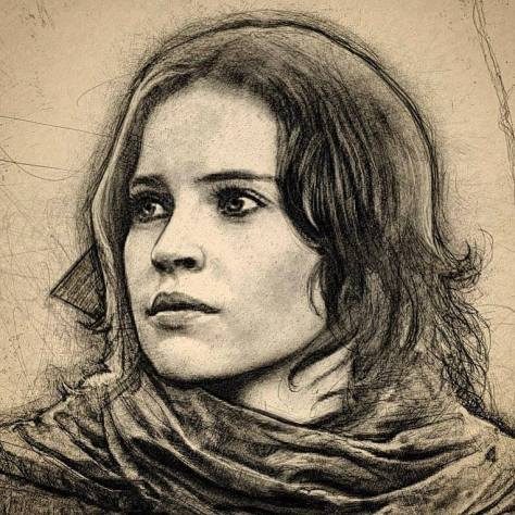Star Wars Celebration 2017 Jyn Erso Art by Paul Shipper