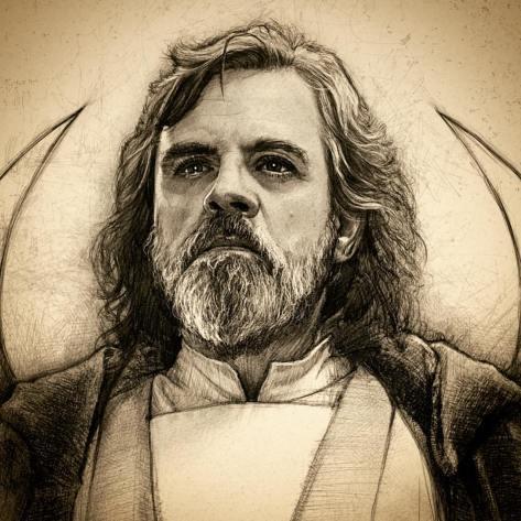 Star Wars Celebration 2017 Art Luke Skywalker by Paul Shipper