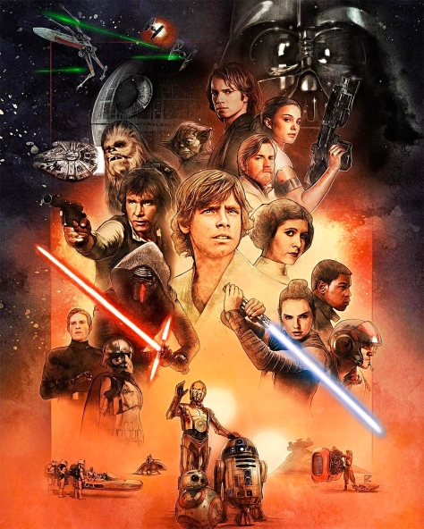 Star Wars Celebration Orlando 2017 Official Key Art Poster by Paul Shipper Coloured Version