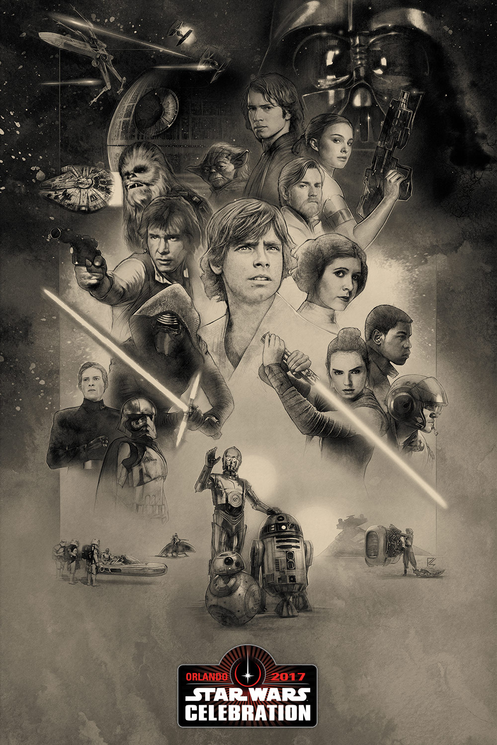 Star Wars Celebration Orlando 2017 Official Key Art Poster by Paul Shipper