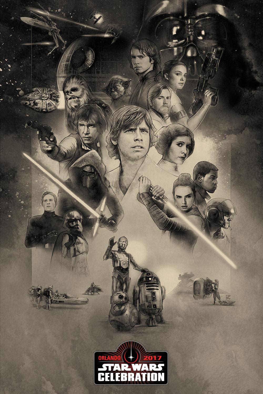 Star Wars Celebration Orlando 2017 Official Key Art Poster by Paul Shipper