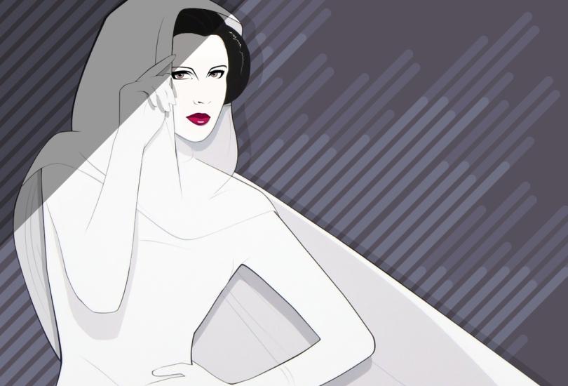 Carrie Fisher Leia Star Wars Tribute Mondo Artwork Variant by Craig Drake on MilnersBlog