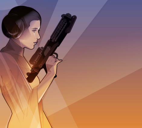 Carrie Fisher Princess Leia Art Tribute by Craig Drake on MilnersBlog