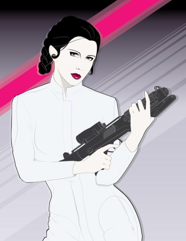 Carrie Fisher Princess Leia Empire Tribute Mondo Artwork by Craig Drake on MilnersBlog