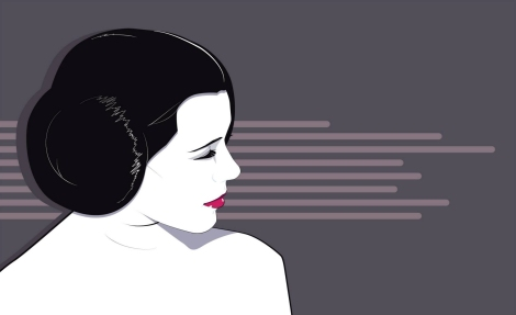 Carrie Fisher Princess Leia Tribute Mondo Artwork by Craig Drake on MilnersBlog