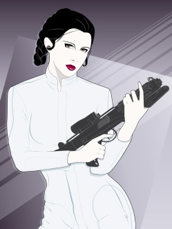 Carrie Fisher The Princess Tribute Art by Craig Drake on MilnersBlog