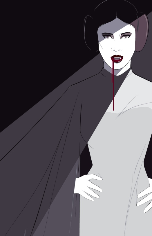 Carrie Fisher Vampire Leia Tribute Artwork by Craig Drake on MilnersBlog