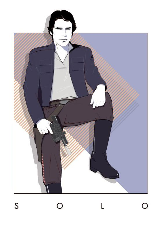 Han Solo Mondo Artwork by Craig Drake on MilnersBlog