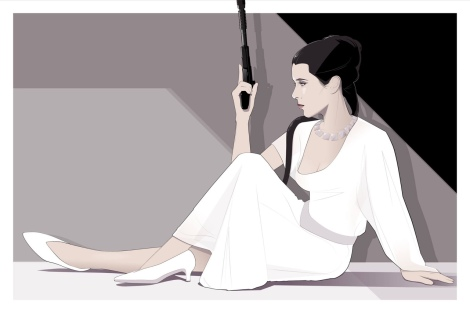 Leia after the awards Mondo Art by Craig Drake on MilnersBlog
