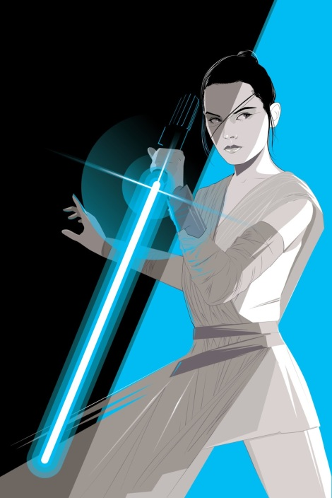Rey The Force Awakens Star Wars by Craig Drake