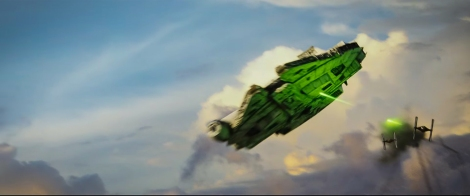 Star Wars _ The Last Jedi Trailer Breakdown - Millennium falcon Battle