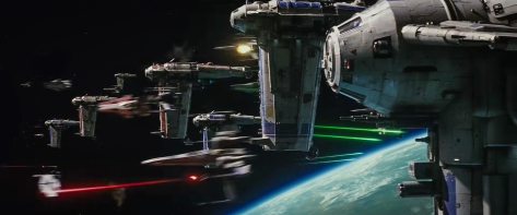 Image result for the last jedi teaser space battle