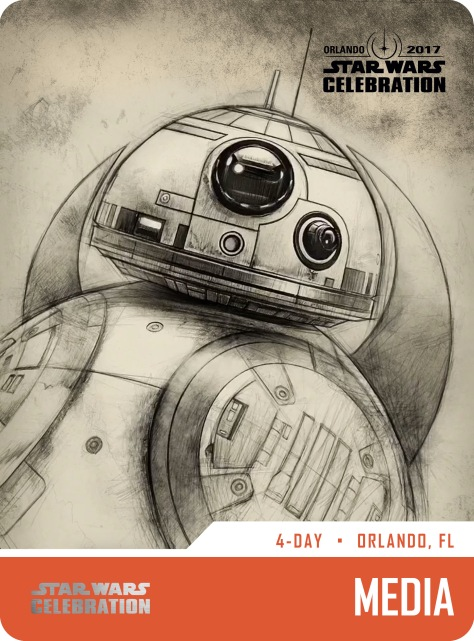 Star Wars Celebration Pass and Badge Art 2017 BB8 Media