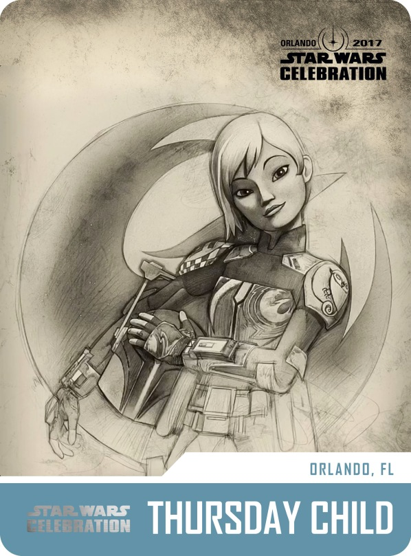 Star Wars Celebration Friday Child Pass and Badge Art 2017 Sabine