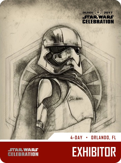 Star Wars Celebration Exhibitor Pass and Badge Art 2017 Captain Phasma