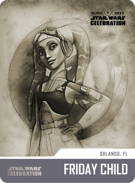 Star Wars Celebration Friday Child Pass and Badge Art 2017 Hera