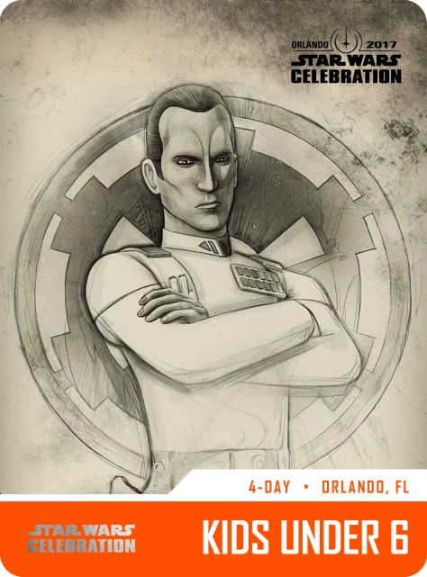 Star Wars Celebration Kids Under 6 Pass and Badge Art 2017 Thrawn