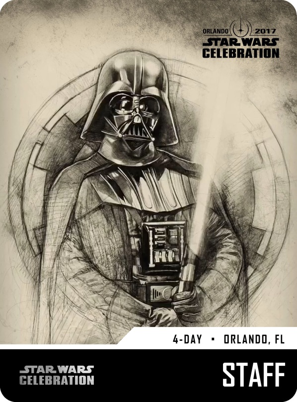 Star Wars Celebration Staff Pass and Badge Art 2017 Vader