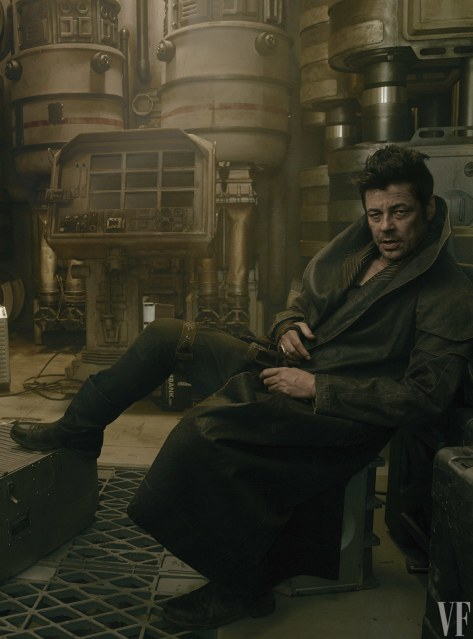 Star Wars The Last Jedi Vanity Fair Photo shoot by Annie Leibovitz Hi Res HD Images Benicio Del Toro as DJ