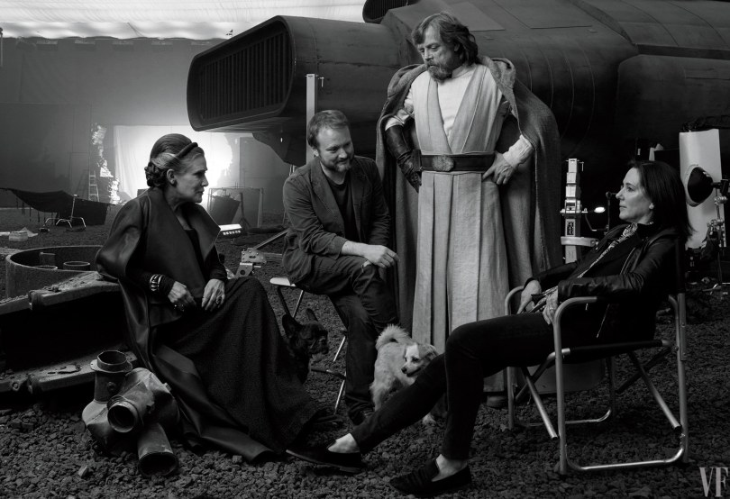 Star Wars The Last Jedi Vanity Fair Photo shoot by Annie Leibovitz Hi Res HD Images Cast and Dogs