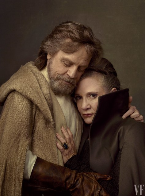 Star Wars The Last Jedi Vanity Fair Photo shoot by Annie Leibovitz Hi Res HD Images Fisher and Hamill