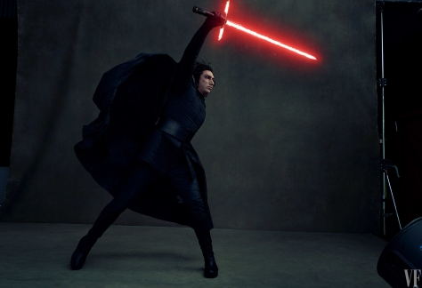 Star Wars The Last Jedi Vanity Fair Photo shoot by Annie Leibovitz Hi Res HD Images Kylo Ren Han Solo's son and slayer