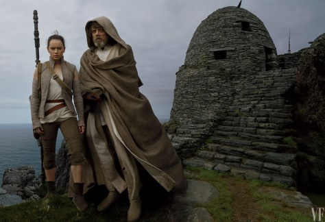 Star Wars The Last Jedi Vanity Fair Photo shoot by Annie Leibovitz Hi Res HD Images Luke and Rey