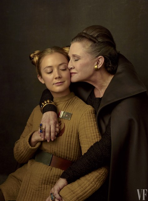 Star Wars The Last Jedi Vanity Fair Photo shoot by Annie Leibovitz Hi Res HD Images Mother and Daughter