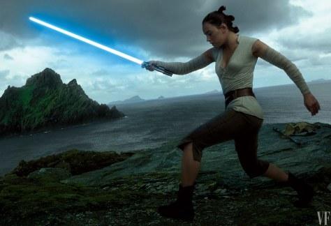 Star Wars The Last Jedi Vanity Fair Photo shoot by Annie Leibovitz Hi Res HD Images Rey Training