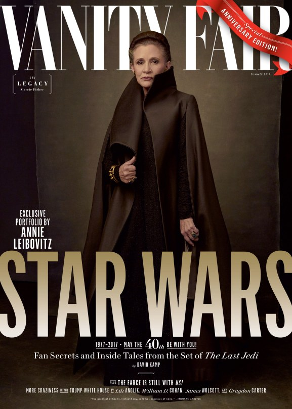 Star Wars : The Last Jedi Four Exclusive Vanity Fair Covers Hi Res HD Large _ General Leia