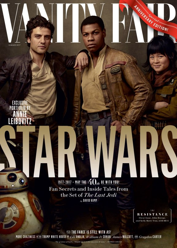 Star Wars : The Last Jedi Four Exclusive Vanity Fair Covers Hi Res HD Large _ Poe Finn Rose and BB8