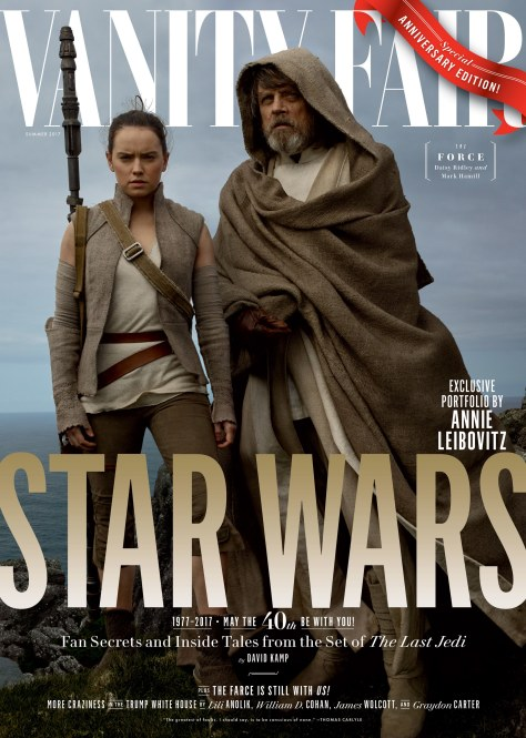 Star Wars : The Last Jedi Four Exclusive Vanity Fair Covers Hi Res HD Large _ Rey and Luke Skywalker
