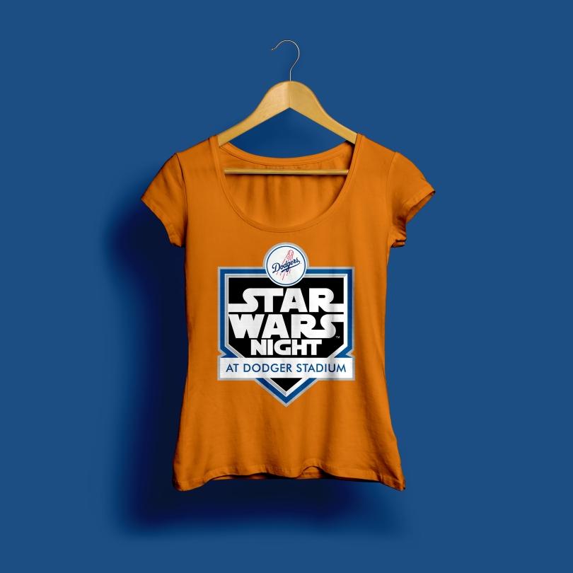 Star Wars Night 2017 Official Dodgers T-Shirt Logo
