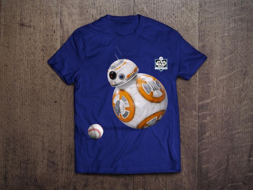 Star Wars Night 2017 Official Dodgers T-Shirt