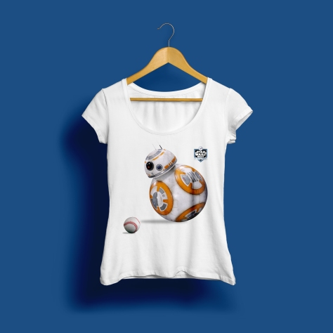 Star Wars Night 2017 Official Ladies Dodgers T-Shirt in White