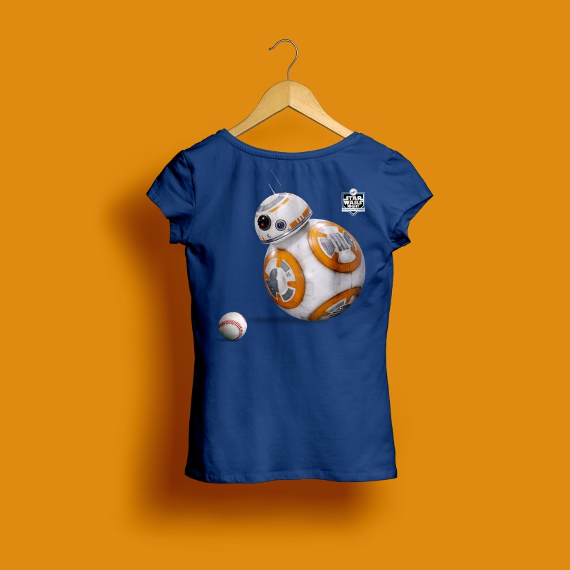 Star Wars Night 2017 Official Ladies Dodgers T-Shirt